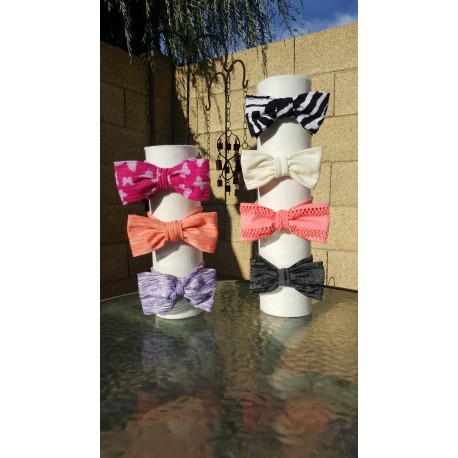 Various Patterns, Soft Stretchy Knit, Bow Headbands, Knot Bows, Classic Head Bows
