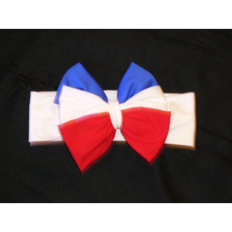 Red White & Blue Bow, Soft Knot Baby Bows, Baby Headbands, Classic Knot, Baby Girl Turbans, Newborn Bows
